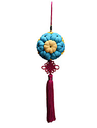 China Hand Embroidery Pendant--Gold and Jade Fill the Hall(Blue)