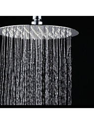 "Ultra Thin 8"" Chrome 304 Stainless Steel Round Rain Shower Heads Ceiling Mounted"
