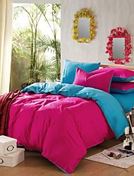 fveja'siv rojo de la rosa azul 100% algodón de cuatro piezas doble actividad normal