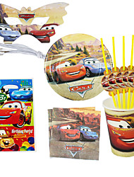 40pcs Cars Baby Birthday Party Decorations Kids Evnent Party Supplies Party Decoration 6 People Use