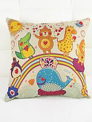 Children Cartoon Design Office Sofa Car Pillows on The Cotton And Linen Pillow Cases