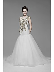 Trumpet/Mermaid Floor-length Wedding Dress -One Shoulder Satin