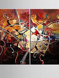 Handgeschilderde Vrije tijdModern Twee panelen Canvas Hang-geschilderd olieverfschilderij For Huisdecoratie