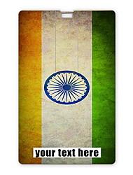 Personalized USB Flash Drive Indian Flag Design 16GB Card USB Flash Drive