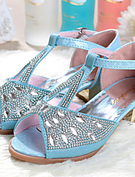 Girls' Shoes Dress/Casual Heels Synthetic Sandals/Pumps/Heels Blue/Pink