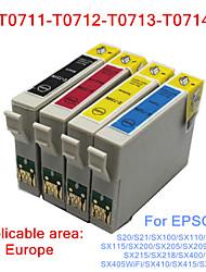 bloom®t0711-T0714 cartucho de tinta compatíveis para Epson s20 / s21 / SX100 / SX110 / SX105 / SX115 / SX200 / x210 tinta cheio (4 cores 1