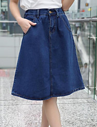 Women's Restoring Ancient Ways Of Tall Waist Jeans Skirt