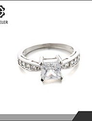Statement Rings Zircon Cubic Zirconia Platinum Plated Fashion Screen Color Jewelry Wedding Party 1pc