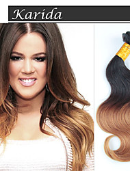 12-26 polegadas cabelo barato qualidade superior tecelagem cabelo humano brasileiro 1b / 27 # corpo ombre cabelo onda
