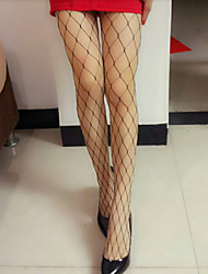 Hosiery Nylon/Spandex Fishnet White/Black