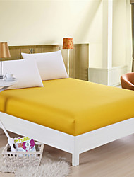 100% Cotton Yellow Mattress Cover Fitted Sheet One Piece