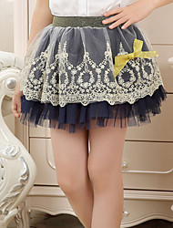 Girl's Summer/Spring/Fall Micro-elastic Skirts (Lace/Mesh)
