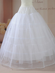 Slips Ball Gown Slip Floor-length 2 Nylon/Tulle Netting White
