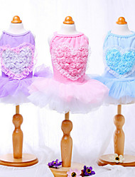 Blue/Pink/Purple Cosplay Cotton Dresses For Dogs