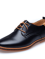 Men's Shoes Wedding/Office & Career/Party & Evening/Dress Calf Hair Oxfords Black/Brown