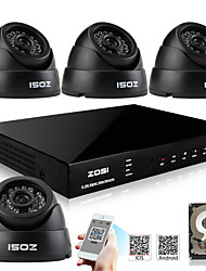 ZOSI® 700TVL 960H HDMI 500GB HDD 4CH DVR Kits 4x Indoor Day Night CCTV Camera Security System