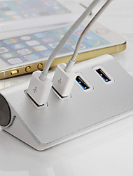 astilla de alta calidad usb 3.0 hub hub de aluminio 4 puertos adaptador divisor para el macbook apple laptop pc aire