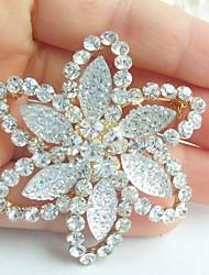 Wedding Accessories Gold-tone Clear Rhinestone Crystal Bridal Brooch Wedding Deco Flower Brooch Bouquet Bridal Jewelry
