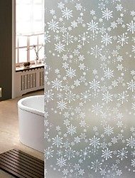 Bathroom Window Film & Stickers,  Snowflake Glass Door Sticker (100*90cm)