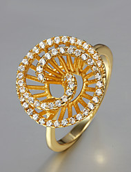 Party Gold Plated Statement Ring Hot Selling Engagement Rings