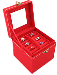 Lavie®Red Velvet Jewelry Box Three Small, Easy to Organize Admission