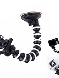 "360 Degree Rotation 1/4"" Car Suction Cup Monopod Octopus Holder for Camera / GPS / GoPro / SJ4000(big size)"
