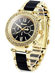 relógio de quartzo relógio de pulso de quartzo charme das mulheres (cores sortidas)