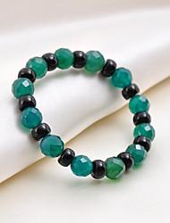 Vintage/Cute/Party/Work/Casual Gemstone & Crystal Beaded/Stretch Bracelet