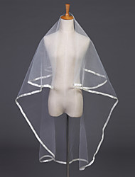 Wedding Veil One-tier Elbow Veils Ribbon Edge 47.24 in (120cm) Tulle White Ivory
