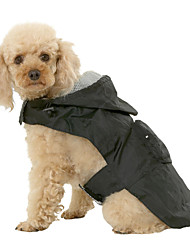 Cat Dog Coat Rain Coat Vest Red Blue Black Dog Clothes Spring/Fall Solid Waterproof