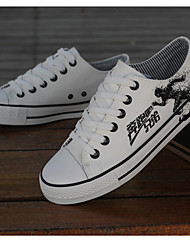 Men's Shoes Casual Canvas Fashion Sneakers Black/Blue/White
