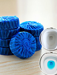 Set of 3 Durable Automatic Antibacterial Cleaning Tabs Blue Toilet Bowl Cleaner Deodorizer
