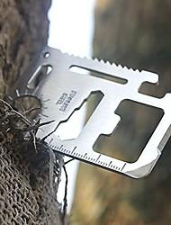 acampamento ao ar livre multi-funcional cartão canivete 11 em 1 faca ferramenta cartão crewdriver abridor portátil inoxidável