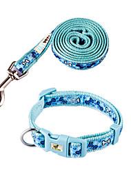 Perros Collar Azul Nilón