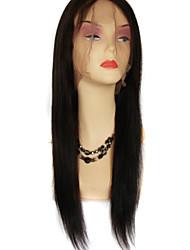 perucas de cabelo humano em linha reta, brasileiros perucas de cabelo humano rendas frente 8-24inch cor (preto marrom # 1 # 1b # 2 # 4)