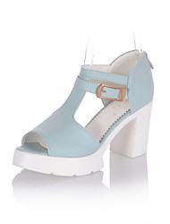Women's Shoes Chunky Heel Peep Toe/T-Strap/Round Toe Sandals Outdoor/Office & Career/Dress Multi-color