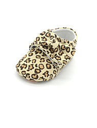 Baby Shoes Casual Fabric Flats Animal Print