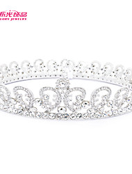 Neoglory Jewelry Round Austrian Rhinestone Tiara Crown Hair Comb for Lady Wedding Pageant/Party