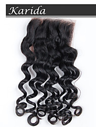Brazilian Hair Wavy Free Part human hair closure, Top Grade Virgin Hair Natural wave Closure