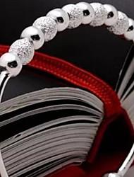Pulseras y Brazaletes Pulseras de puño Plata de ley Boda / Fiesta / Diario Joyas Regalo Plateado,1 pieza