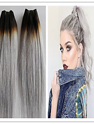 3pcs / lot 8a grau Haarwebart der Körperwelle brasilianische reine Menschenhaarverlängerungen grau grau Haareinschlaghaarbündel