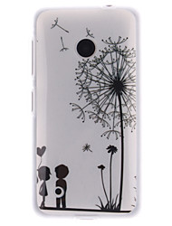 For Nokia Case IMD Case Back Cover Case Dandelion Soft TPU Nokia Nokia Lumia 530