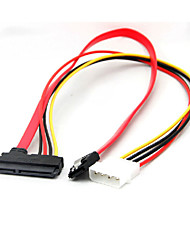 22 pin sata power data til 4-bens ide molex& sata port-stik kabel