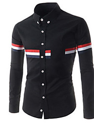 Amanda Men's Casual Shirt Collar Long Sleeve Casual Shirts