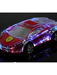 braudel lecteur mp3 mode de voiture de cristal transparent coloré cadeau créatif tf carte portable haut-parleur