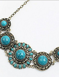 New Arrival Fashional Hot Selling High Quality Retro Gem Flower Necklace