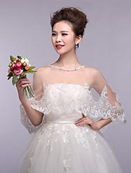 Wedding Wraps Capelets Organza/Polyester Fashion Lace Wraps White