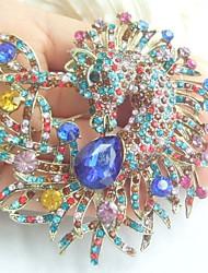 Women Accessories Gold-tone Multicolor Rhinestone Crystal Unicorn Horse Brooch Art Deco Scarf Brooch Pin Women Jewelry