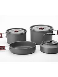 3-4 Portable Outdoor Camping Cookware Set Teapot Bag Containing A Frying Pan