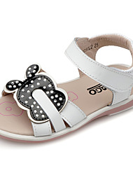 Girl's Sandals Summer Comfort Slingback Calf Hair Outdoor Casual Athletic Flat Heel Sparkling Glitter Flower Magic Tape Hook & LoopPink